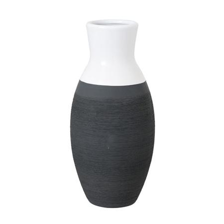 Vase Ceramic Espresso Dipped 12x12x25cm