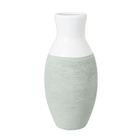 Vase Ceramic Sage Dipped 12x12x25cm