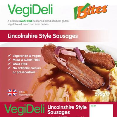 VBites Lincolnshire Style Sausages
