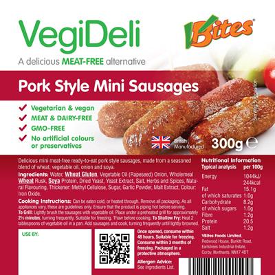 VBites Mini Pork Style Sausages