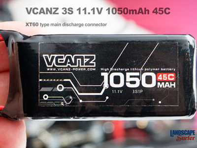 VCANZ 3S 11.1V 1050mAh 45C