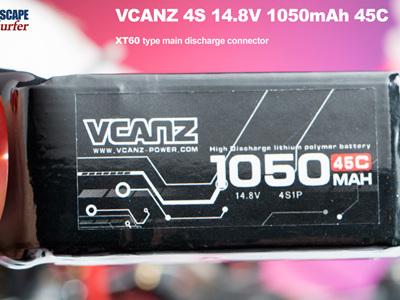 VCANZ 4S 14.8V 1050mAh 45C