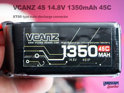 VCANZ 4S 14.8V 1350mAh 45C