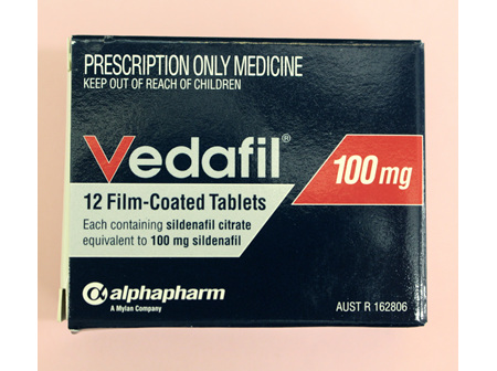 Vedafil 100mg 12s  ( Sildenafil )  ONLY AVAILABLE ON PRESCRIPTION OR INSTORE PHARMACIST CONSULT