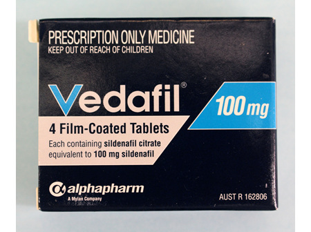 Vedafil 100mg 4s  ( Sildenafil ) ONLY AVAILABLE ON PRESCRIPTION OR INSTORE PHARMACIST CONSULT