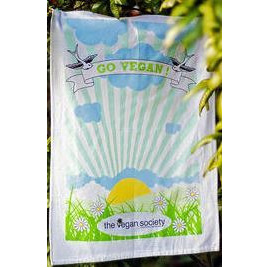 Vegan Society Tea Towel