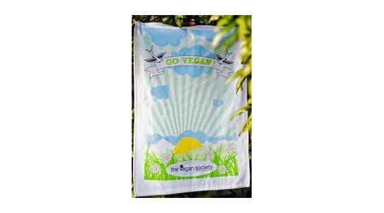 Vegan Society Tea Towel