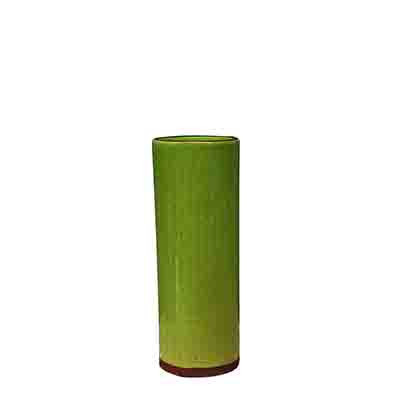Vegas Cylinder Vase in Lime green