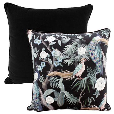 Velvet Cushion Birds of a Feather 50x50cm