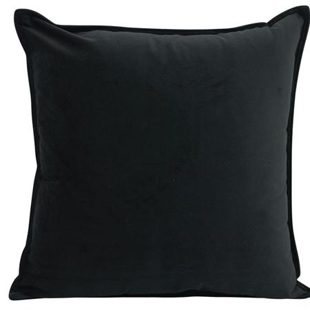 Velvet Cushion Black 55x55cm