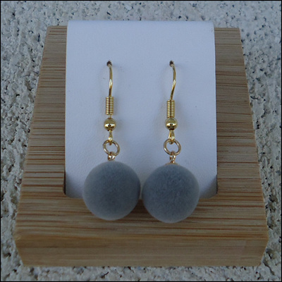 Velvet Round Drop Earrings