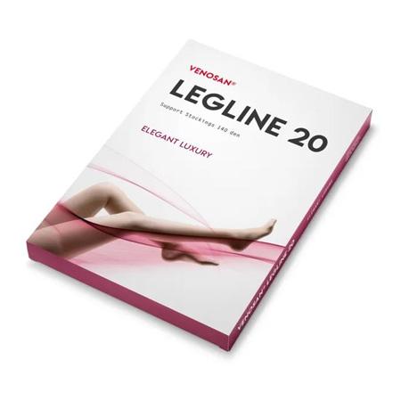 VENOSAN LEGLINE 20 140 DEN KNEE LARGE BLACK