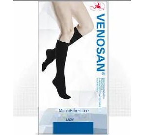 Venosan microfiber Women Knee Large Black