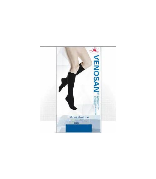 Venosan MIcrofibre Women Knee Medium Black