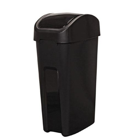Venue Rubbish Bin Black 55 Litre Flip Top
