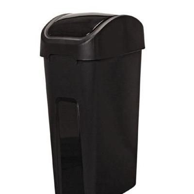 Venue Rubbish Bin Black 55 Litre Flip Top