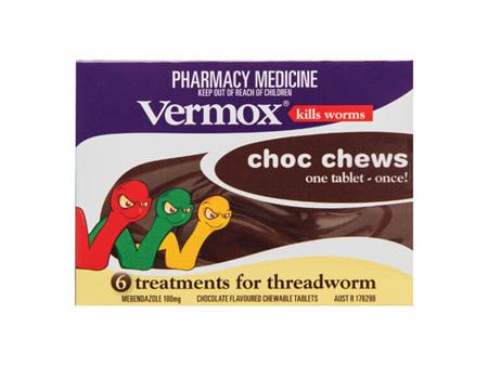 VERMOX Choc Chews Tabs 6s