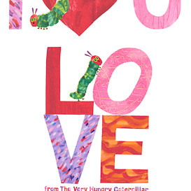 Very Hungry Caterpillar -  I Love You - panel