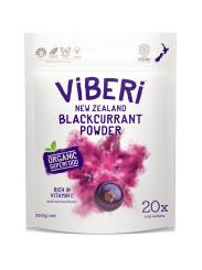 Viberi Organic Blackcurrant Powder - 200g