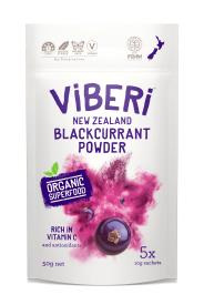 Viberi Organic Blackcurrant Powder 5x10g
