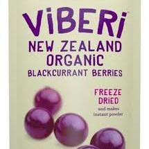 Viberi Organic Blackcurrants Freeze Dried 120g