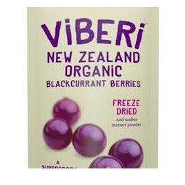 Viberi Organic Blackcurrants Freeze Dried 120g