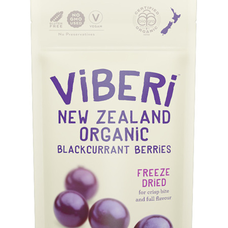 Viberi Organic Blackcurrants Freeze Dried 40g