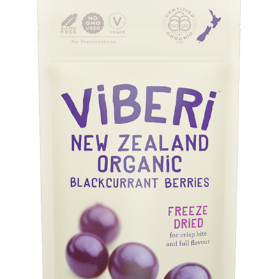 Viberi Organic Blackcurrants Freeze Dried 40g