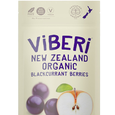 Viberi Organic Blackcurrants Soft Dried 100g