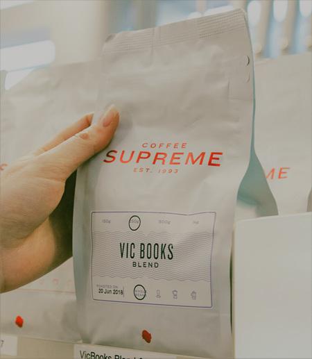 Vic Books Supreme Coffee Blend 250g Whole Beans