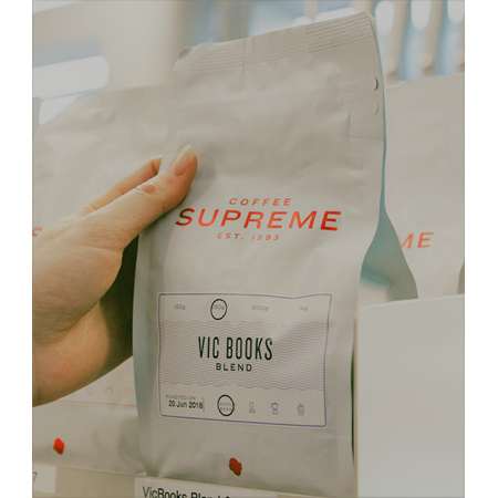 Vic Books Supreme Coffee Blend 250g Whole Beans