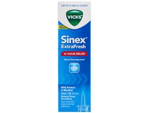VICKS SINEX EXTRA FRESH NASAL DECONGESTANT 15ML