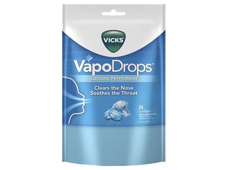 VICKS VAPODROPS PEPPERMINT 24