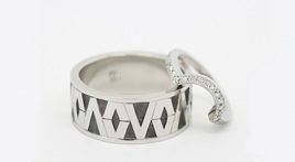 Victor Vito & Amber Dallas: Polynesian Tapa Pattern Inspired Ring