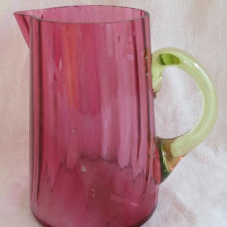 Victorian cranberry jug