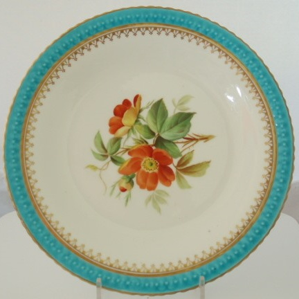 Victorian hand painted plate