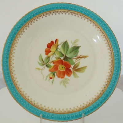 Victorian hand painted plates