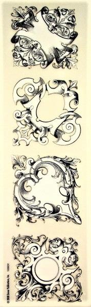 Victorian Scrolls Rub-On Craft Transfers