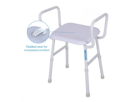 Viking Shower Stool with Arms & Padded Seat