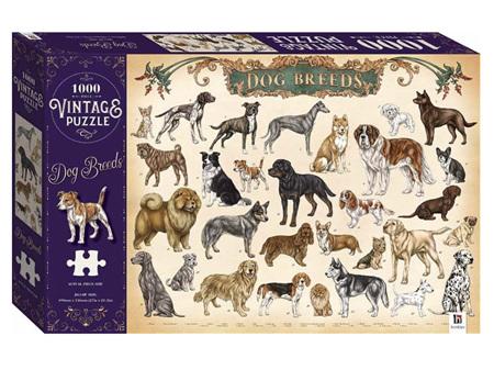 Vintage 1000 Piece Puzzle Dog Breeds