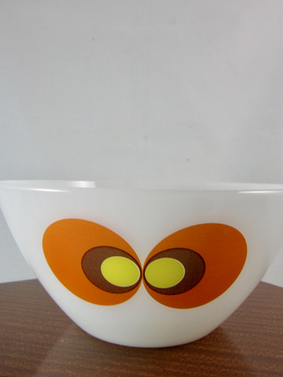 Vintage 60s German Design Jena Glass Bowl by Schott Mainz 17cm