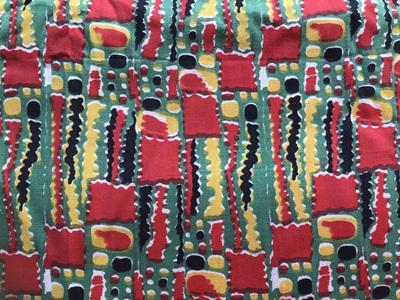 Vintage Abstract Printed Design Fabric Piece 95cm x 250cm