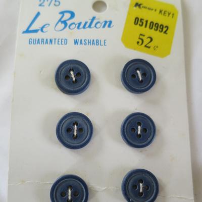 Navy blue buttons