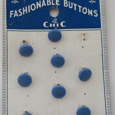Little blue shank buttons