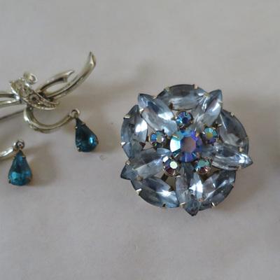 Pale blue stones