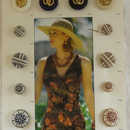 Vintage button samples
