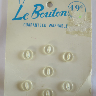 Tiny pearlised buttons