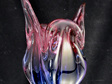 Vintage Cat's Head Art Glass Vase by Chribska Glassworks
