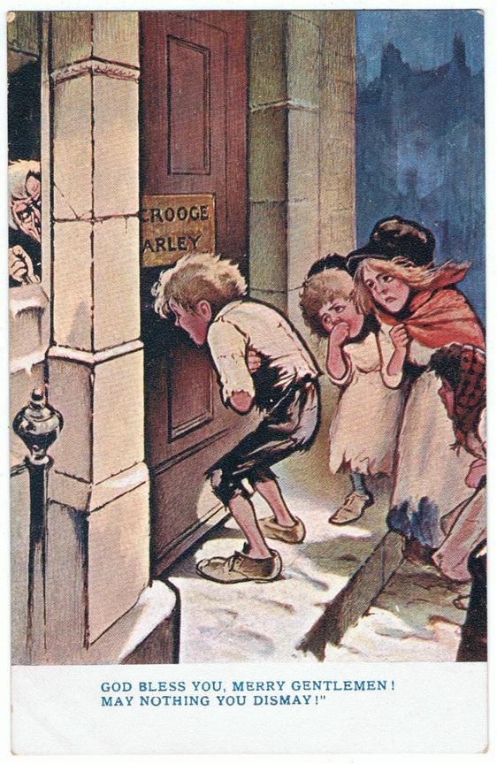 Vintage Christmas Postcard - Dickens