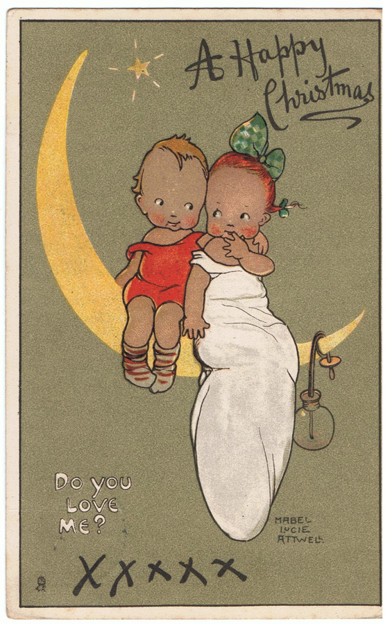 Vintage Christmas Postcard - Mabel Lucie Attwell